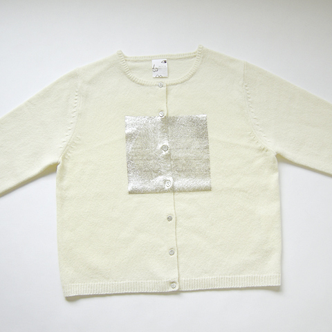 Merino Lambs Wool Cardigan with Square Leaf Print | Collection | how to live | ハウ トゥ リヴ