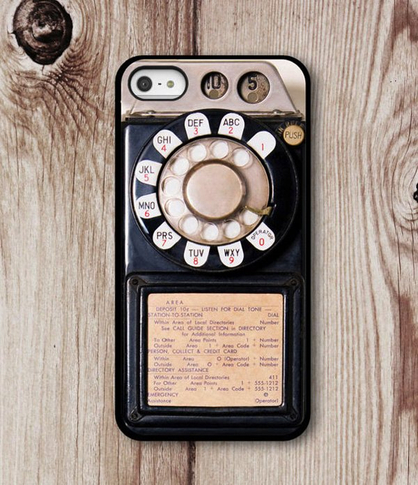 Old Phone iPhone Case iPhone 6 iPhone 5 by CasesByZoeMadison