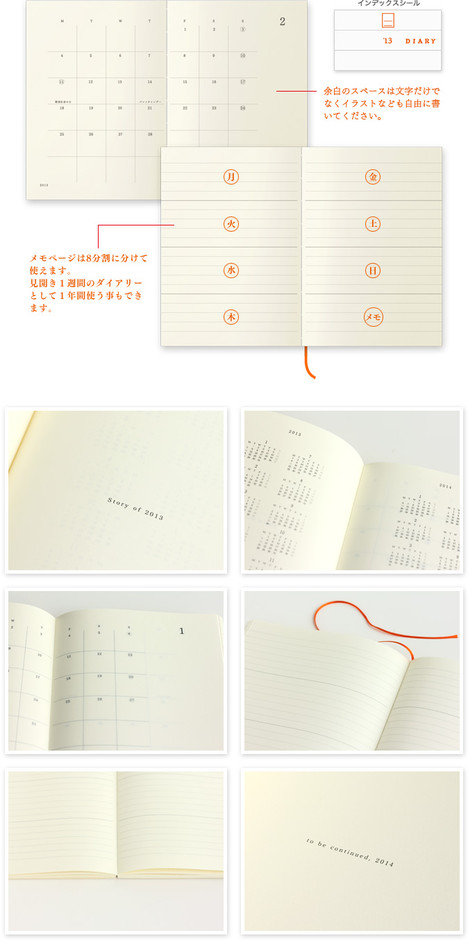 MD PAPER PRODUCTS|MDノートダイアリー 2013年版 <新書>
