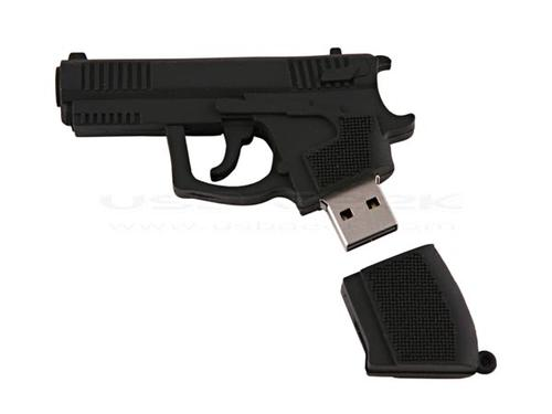 Don't show the gun-shaped USB flash drive to cops |Gadgetsin