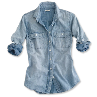 J.Crew Denim Shirt - BLUE - Shop by Color - Shopping - InStyle