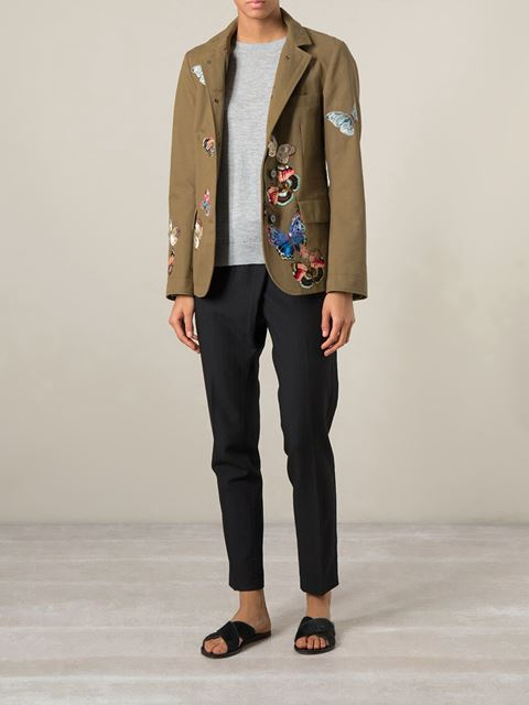 Valentino Stitched Butterfly Jacket - Luisa Boutique - Farfetch.com