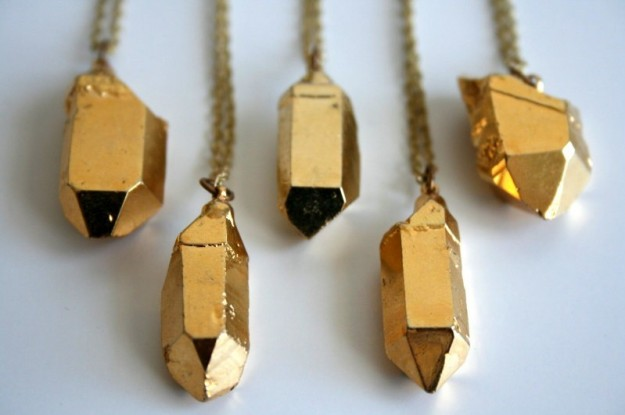 Pigeon Toe » Shop » Catalog Products » Gold Dipped Crystal Necklace ($100-200) - Svpply