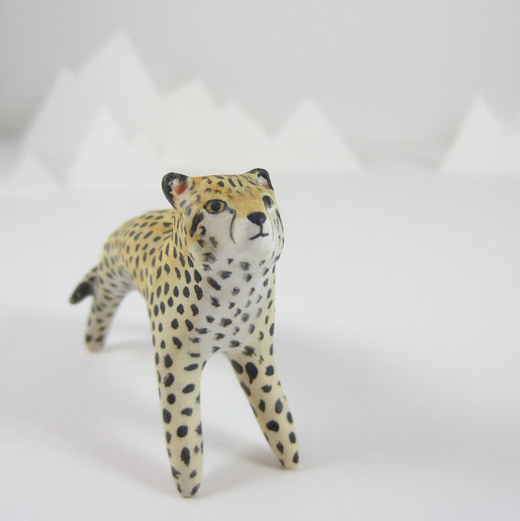 Cheetah figurine totem animal by HandyMaiden on Etsy