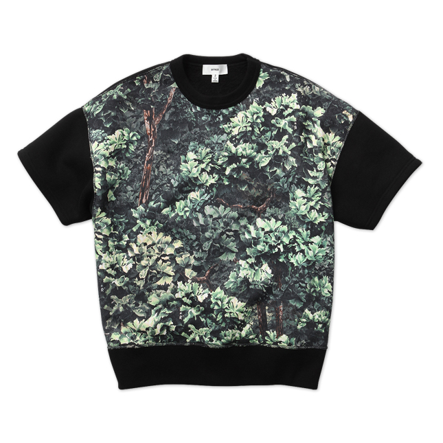 JUST LIKE HONEYEE / CAMO SWEAT HALF SLEEVE SHIRT | HYKE | JUST LIKE HONEYEE