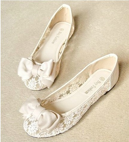 lace Flat Shoes sandals Round head pointed shoes from NewYorkscene on Storenvy