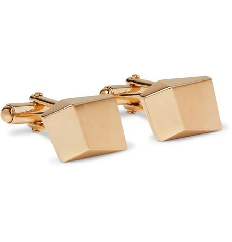 Lanvin - Brushed Gold-Plated Cufflinks