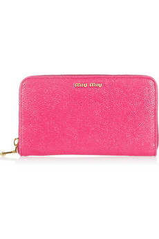 Miu Miu?|?Stringray-effect leather wallet?|?NET-A-PORTER.COM