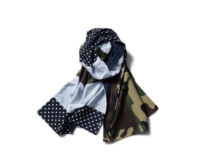 SOPHNET. | PRODUCT | FABRIC MIX DOUBLE FACE STOLE