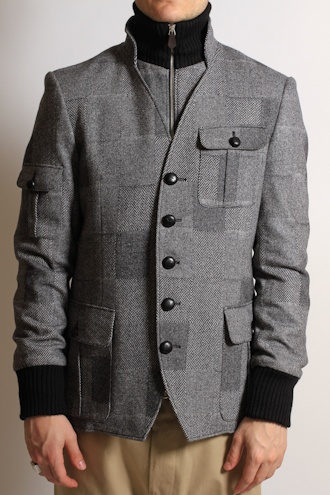 VIVIENNE WESTWOOD S25AM0101 Wool Safari Jacket in Grey - JACKETS from Autograph UK