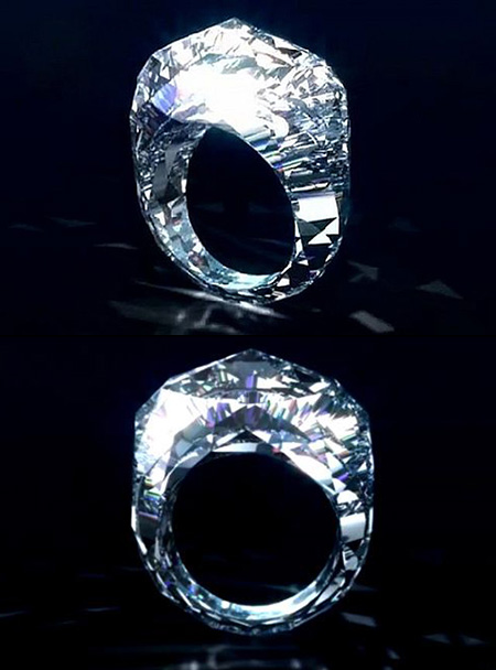 Stunning Ring Made Entirely of Diamond is Valued at $68-Million - TechEBlog