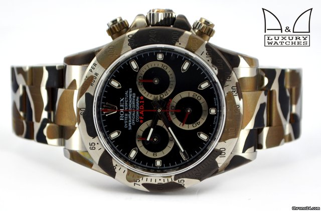 Rolex F.A.D.1 ROLEX DAYTONA 16520 DLC PVD CAMOUFLAGE ACCIAIO for $17,647 for sale from a Trusted Seller on Chrono24