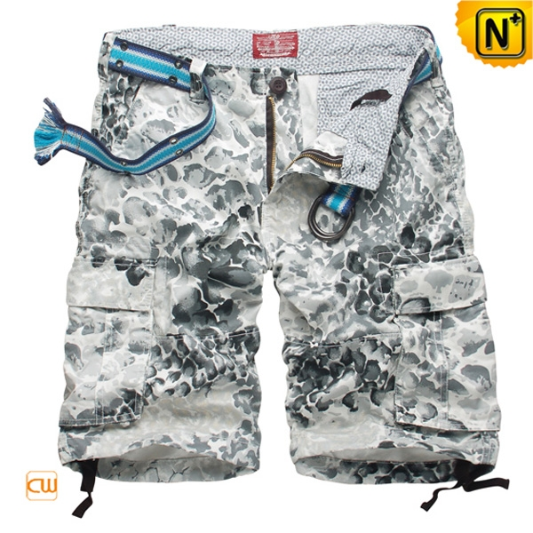 Mens Cotton Cargo Shorts with Belt CW144003
