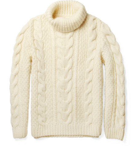 Maison Martin Margiela Chunky Cable-Knit Wool Sweater | MR PORTER