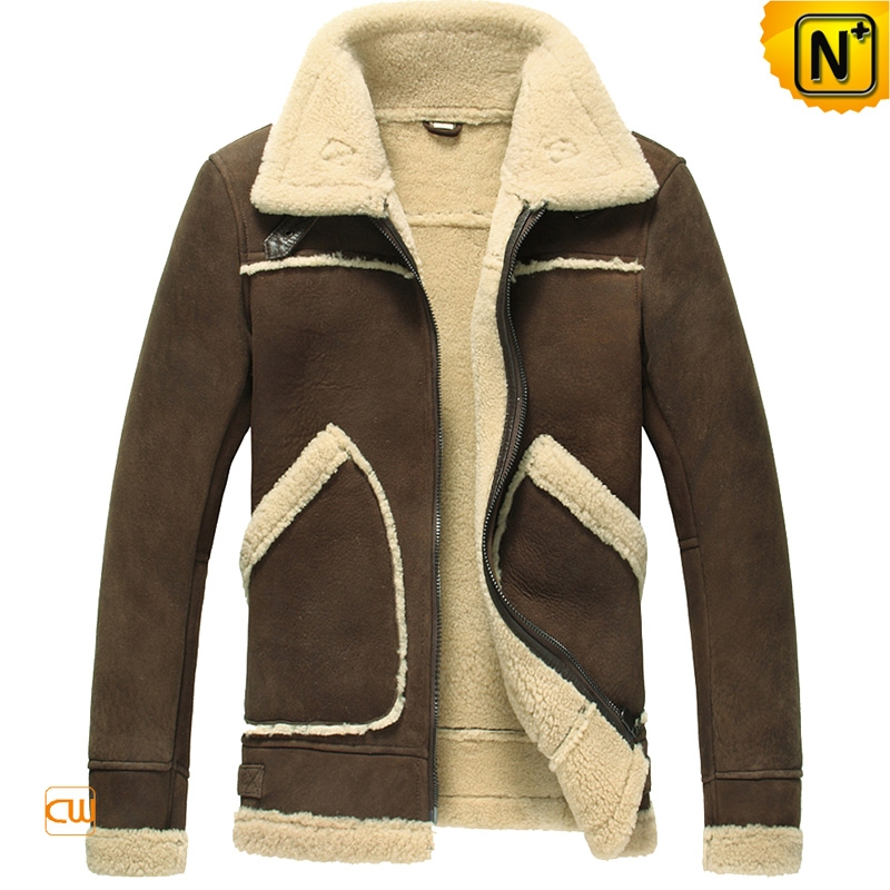 Shearling Leather Fur Jacket for Men CW848115