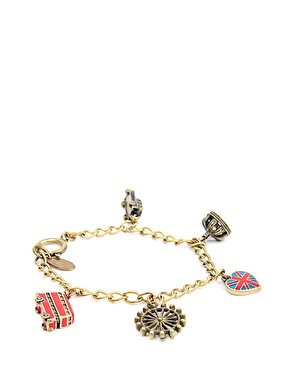 Cath Kidston | Cath Kidston Red And Blue London Charm Bracelet at ASOS