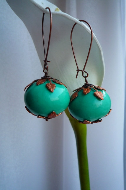 Turquoise Cotton Pearls by gystefania on Etsy