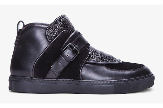 Givenchy Black Padded Leather Sneakers | Highsnobiety.com