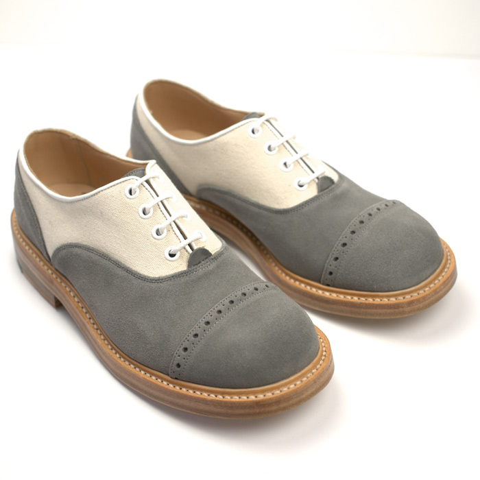 Quilp Shoes / M 7401 Oxford Shoes / Grey Repello Suede x Canvas , 2 Tone - Store - nonsect radical