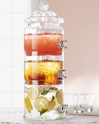 Organic Déco / HORCHOW Stacked Optic-Glass Beverage Server.