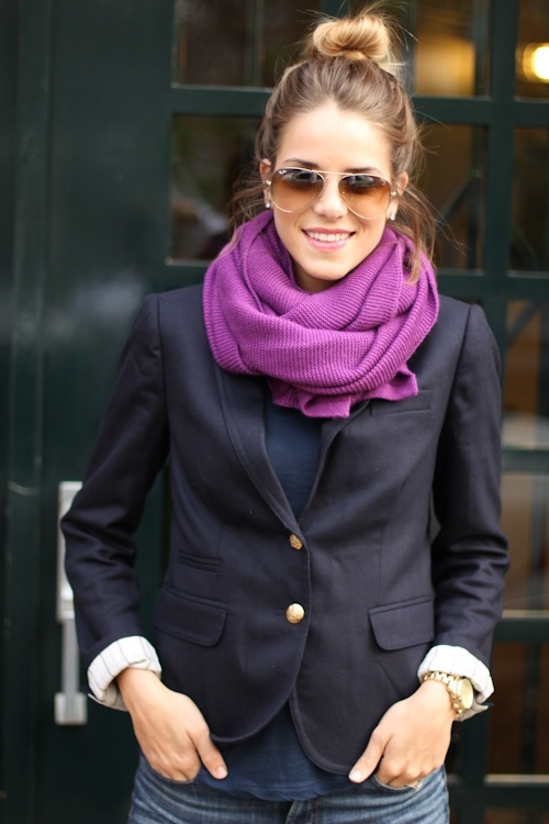 I have expensive taste / So cute! Love the blazer, scarf, shades and hair