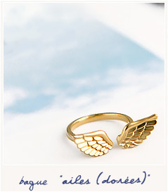 Ailes golden wings ring - Bird on the wire