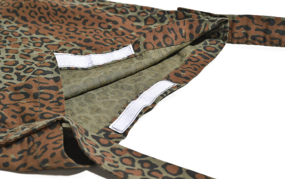 Book Bag-Printed Flannel/Camouflage-Leopard