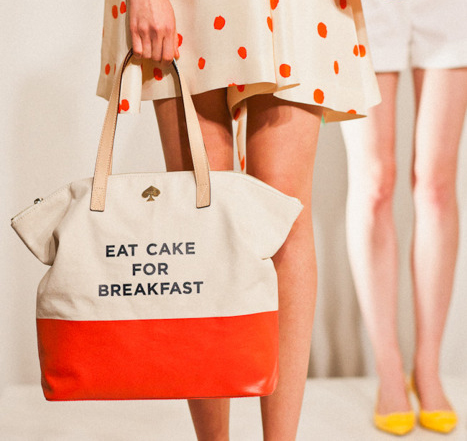 "kate spade NEW YORK : ""EAT CAKE FOR BREAKFAST"" TERRY"