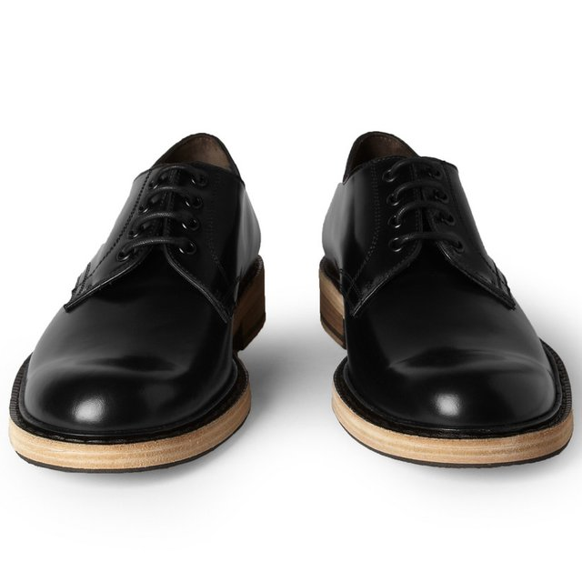 Acne Bleeker Contrast-Sole Leather Derby Shoes | MR PORTER