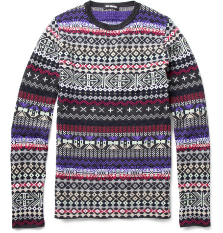 Raf Simons Slim Fit Patterned Sweater | MR PORTER