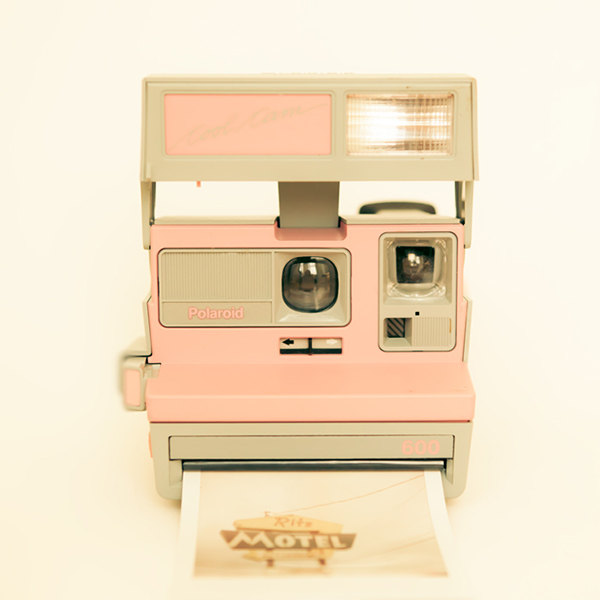 Polaroid camera PHOTO this is a PRINT neutrals for IKEA by bomobob