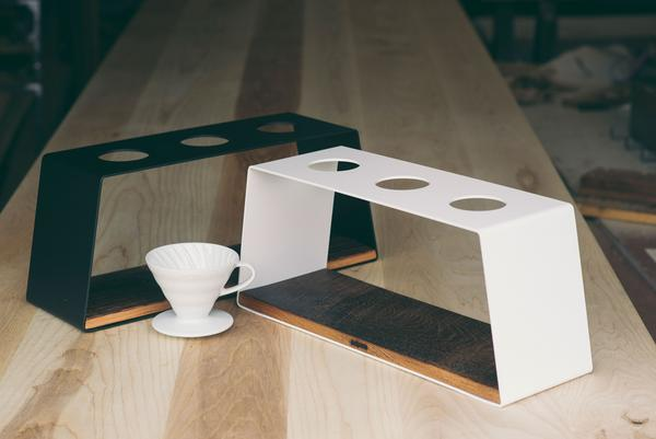 Coffee Pour Over Stand Triple | JM&Sons | WANT WOOD