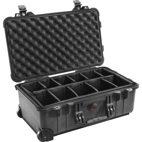 Pelican 1514 Carry On 1510 Case with Dividers (Black)