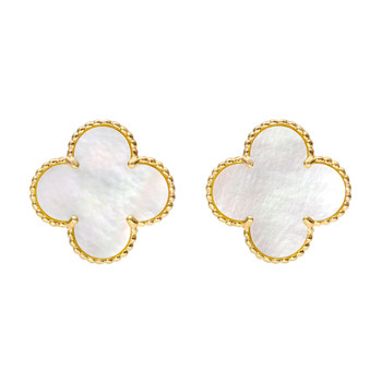 Betteridge: Van Cleef & Arpels Super Vintage Alhambra Earclips ($500-5000) - Svpply