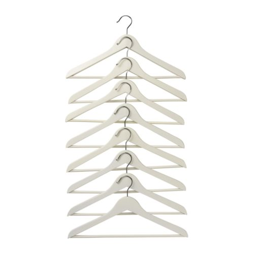 BUMERANG Curved clothes hanger - white - IKEA