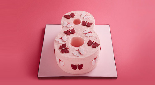 Butterfly Number Cake | We Heart It