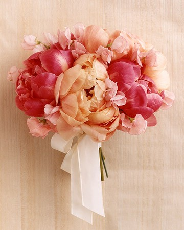 Weddings / Bridesmaid Bouquet - Pink Wedding Flowers - Plan Your Wedding by Color - Martha