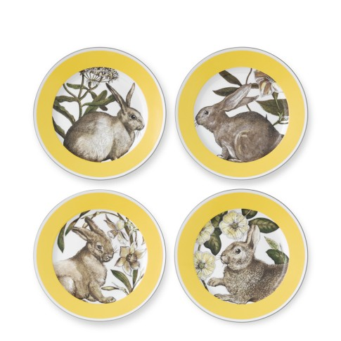 Yellow Banded Easter Salad Plates, Set of 4 | Williams-Sonoma