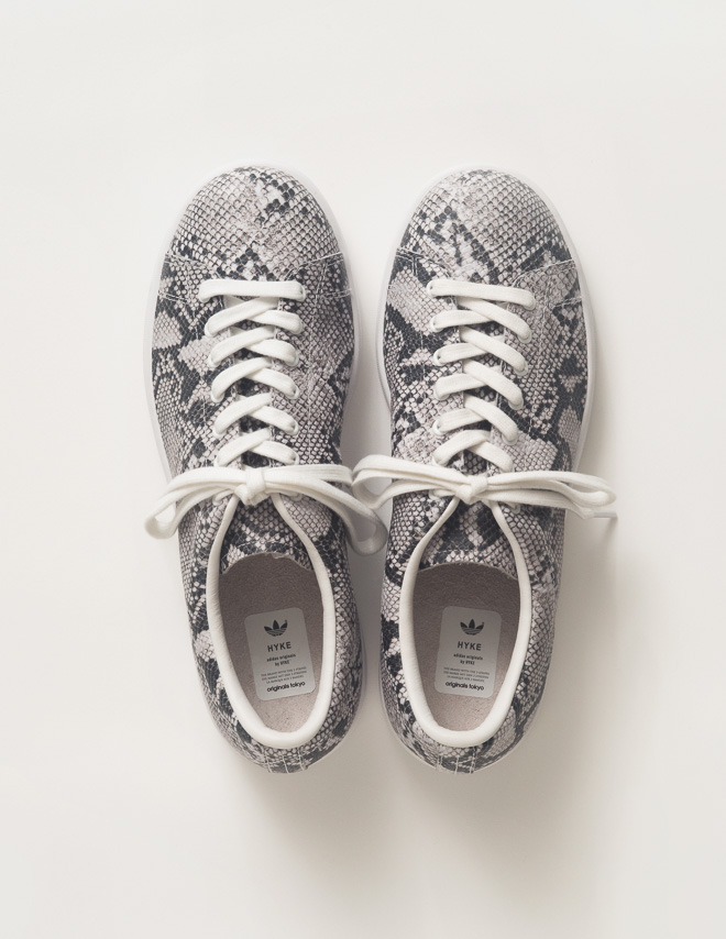 ADIDAS ORIGINALS - HAILLET SNAKE PRINTED LEATHER SNEAKERS - LUISAVIAROMA - LUXURY SHOPPING WORLDWIDE SHIPPING - FLORENCE
