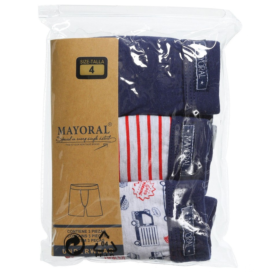Mayoral - Boys Cotton Boxer Shorts (Pack of 3) | Childrensalon