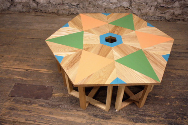 Hand-Painted Geometric Furniture by VOLK - Design Milk