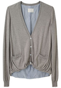 Boy by Band of Outsiders / Gathered Hem Cardigan | La Garçonne