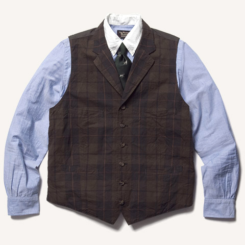 MADRAS LAPELED ODD VEST - THE RUGGED MUSEUM | ラギッドミュージアム | Online Shop