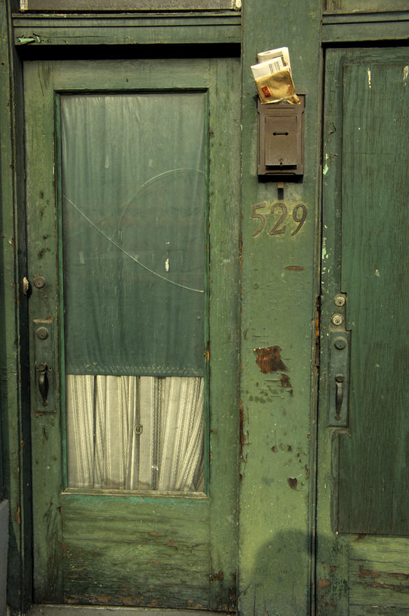 A Worn Door And Mailbox Photograph by Stacy Gold - A Worn Door And Mailbox Fine Art Prints and Posters for Sale