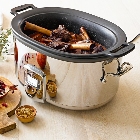 All-Clad Deluxe Slow Cooker with Cast-Aluminum Insert, 7-Qt. | Williams-Sonoma