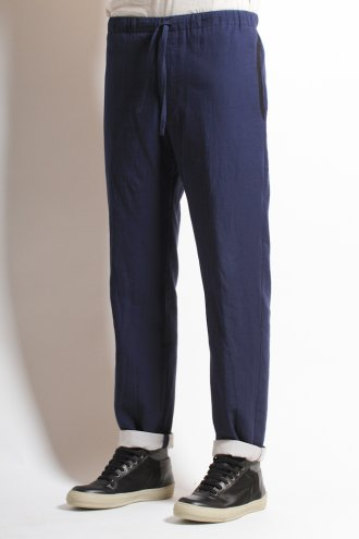 DRIES VAN NOTEN 'Prosa' Drawstring Pant in Blue - TROUSERS from Autograph UK