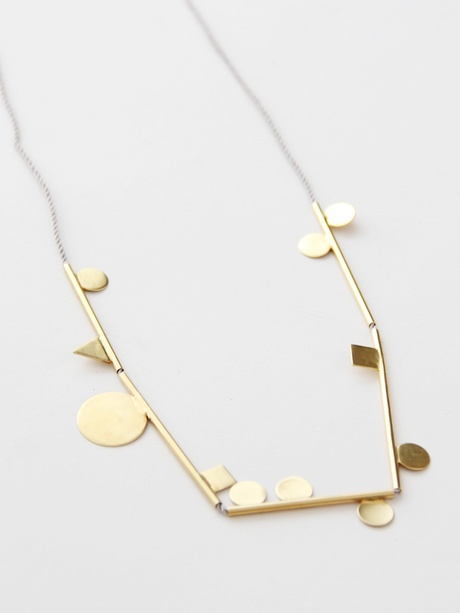 Jewelry / Samma Shapely String Thing IV Necklace - Brass « Pour Porter
