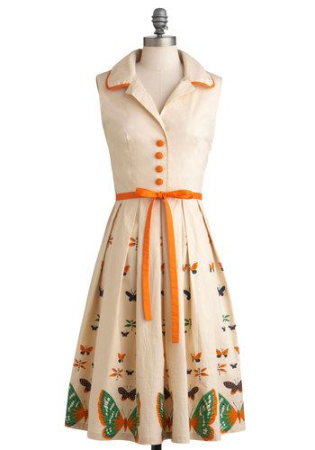 Bettie Page My Bread and Butterfly Dress | Mod Retro Vintage Dresses | ModCloth.com
