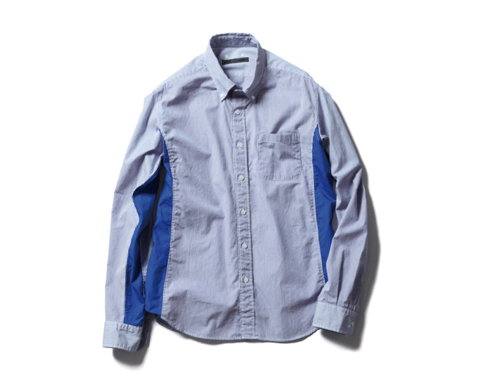 SOPHNET. | PRODUCT | STRIPE SIDE PANEL B.D SHIRT