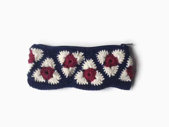Handmade crochet pencil case by LeBubble on Etsy